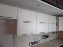 Кухня МДФ: Білий Софт + Бетон Ржавий