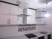Кухня МДФ: Техно Білий + Техно Чорний