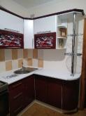 Кухня МДФ: Техно Білий + Техно Бордо