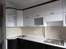 Кухня МДФ: Біле дерево + Венге Южне