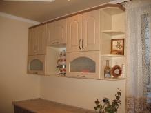 Кухня МДФ: Льон темний(низ) + Льон світлий(верх)