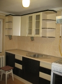 Кухня МДФ: Чорне золото + крем (глянець)