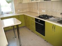 Кухня МДФ: Крем глянець + Олива глянець