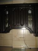 Кухня МДФ: Горіх темний + патина чорна