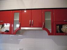 Кухня МДФ: Чорний гл. + Червоний гл.