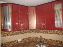 Кухня МДФ: Чорне золото + Червоне золото