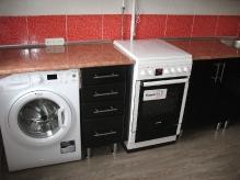 Кухня МДФ: Лілія червона + Лілія чорна