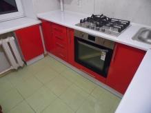 Кухня МДФ: Червоний глянець + Білий Глянець(Весь декор)