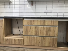 Кухня МДФ: Дуб Крафт + Білий Супер мат