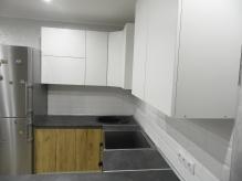 Кухня МДФ: Білий Супер Мат + Дуб Крафт