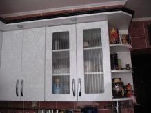 Кухня МДФ: Чорні квіти + Білі квіти