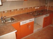 Кухня МДФ: Оранжеві квіти + Білі квіти