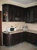 Кухня МДФ: Горіх темний + патина чорна (Фреза № 11) нова