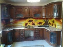 Кухня: МДФ: Кедр Люкс + патина чорна + фотодрук