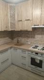 Кухня МДФ: Дуб Сан Ремо + Білий металік глянець