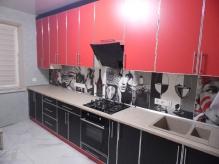 Кухня ДСП: Червоне + Чорне ДСП у Алюмінієвому Профілю