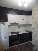 Кухня МДФ: МДФ Чорний мат + МДФ Білий мат