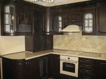 Кухня: МДФ: Горіх темний + Патина чорна (на фотографіях пиль)
