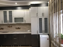 Кухня МДФ: Platinum PMM70 + Galaxi Steel GMM77751