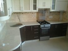 Кухня МДФ: RAL8017 Chocolate brown + RAL1013 Oyster white