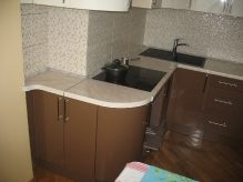 Кухня МДФ: RAL 8025 Pale brown + RAL 9001 Cream