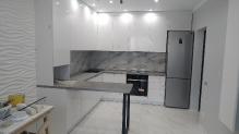 Кухня AGT (АГТ) : AGT 734 - Білий шовк New (мат)