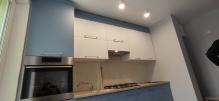 Кухня AGT (АГТ): AGT 3027  Forest Green (мат) + 3028 Pearl White (мат)